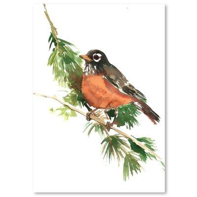 Americanflat American Robin Graphic Art on Wrapped Canvas