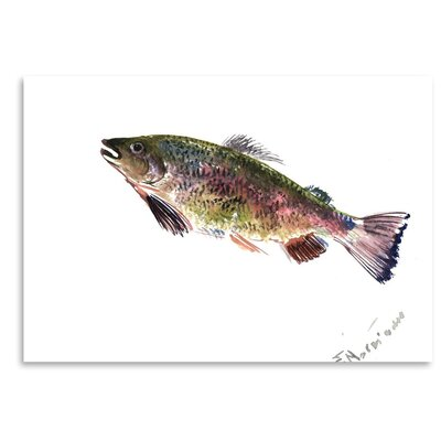 Americanflat 'Rainbow Trout 2' by Suren Nersisyan Painting Print on Wrapped Canvas