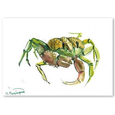 Americanflat 'Crab 2' by Suren Nersisyan Painting Print on Wrapped Canvas in Green