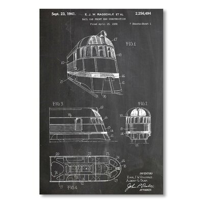 Americanflat 'Zephyr Train' by House of Borders Graphic Art on Wrapped Canvas