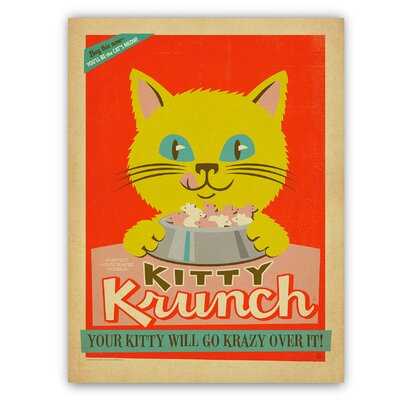 Americanflat Kitty Krunch by Anderson Design Group Graphic Art Wrapped on Canvas