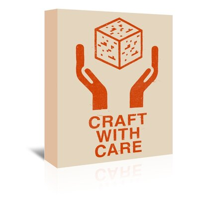 Americanflat 'Craft with Care 1' by Florent Bodart Graphic Art Wrapped on Canvas