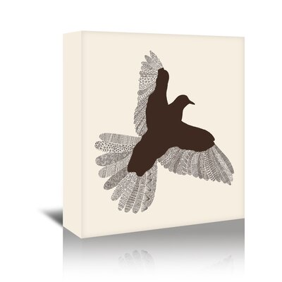 Americanflat 'Bird' by Florent Bodart Graphic Art Wrapped on Canvas in Beige