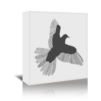 Americanflat 'Bird' by Florent Bodart Graphic Art Wrapped on Canvas in Grey