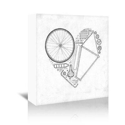 Americanflat 'Love Bike' by Florent Bodart Graphic Art