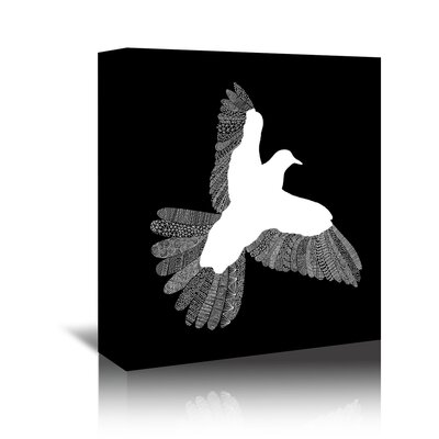 Americanflat 'Bird' by Florent Bodart Graphic Art oWrapped on Canvas in Black