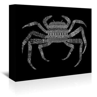 Americanflat 'Crab' by Florent Bodart Graphic Art Wrapped on Canvas