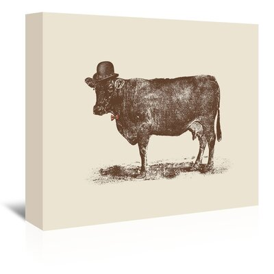 Americanflat 'Cow Cow Nut' by Florent Bodart Graphic Art Wrapped on Canvas