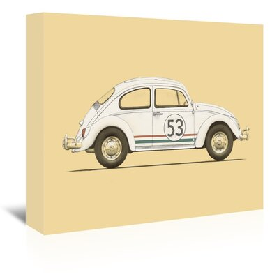 Americanflat 'Beetle' by Florent Bodart Graphic Art Wrapped on Canvas