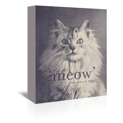Americanflat 'Famous Quote Cat' by Florent Bodart Graphic Art Wrapped on Canvas