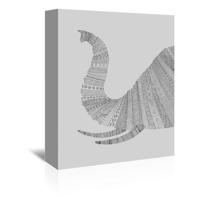 Americanflat 'Elephant' by Florent Bodart Graphic Art Wrapped on Canvas in Grey