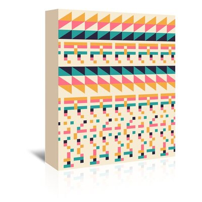 Americanflat 'Pattern 1' by Florent Bodart Graphic Art Wrapped on Canvas
