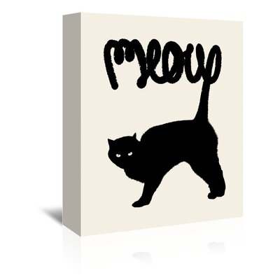 Americanflat 'Meow' by Florent Bodart Graphic Art Wrapped on Canvas