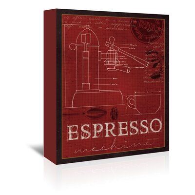 Americanflat 'Espresso Machine' by Marco Fabiano Vintage Advertisementhic Wrapped on Canvas