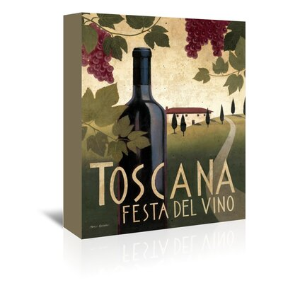 Americanflat 'Toscana Festa Del Vino' by Marco Fabiano Vintage Advertisement Wrapped on Canvas
