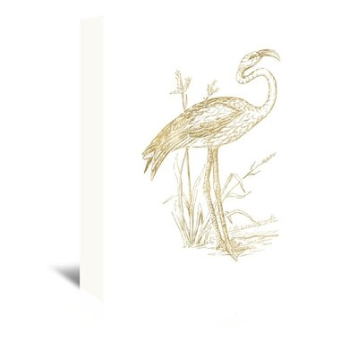 Americanflat 'Flamingo 2' by Amy Brinkman Graphic Art Wrapped on Canvas