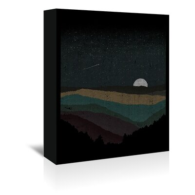 Americanflat 'Moonrise Colour' by Florent Bodart Graphic Art Wrapped on Canvas