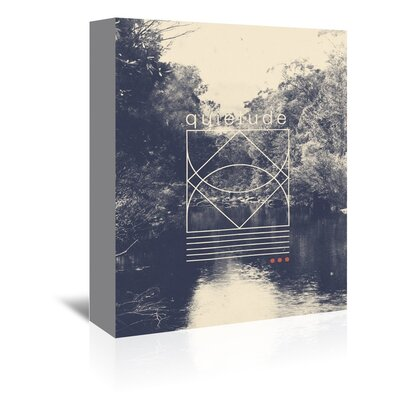 Americanflat 'Quietude' by Florent Bodart Graphic Art Wrapped on Canvas