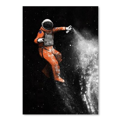 Americanflat 'Astronaut' by Florent Bodart Graphic Art