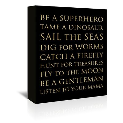 Americanflat 'Be a Super Hero' by Amy Brinkman Typography Wrapped on Canvas