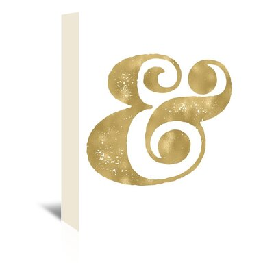 Americanflat 'Ampersand' by Amy Brinkman Graphic Art Wrapped on Canvas