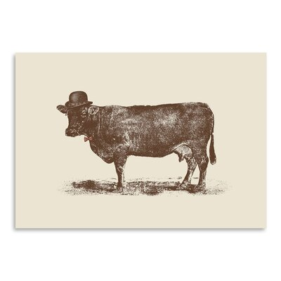 Americanflat 'Cow Nut' by Florent Bodart Graphic Art