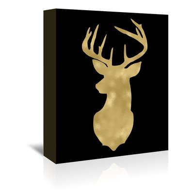 Americanflat 'Deer Head Left Face' by Amy Brinkman Graphic Art Wrapped on Canvas
