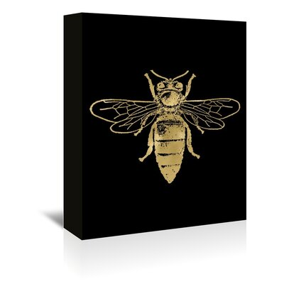 Americanflat 'Bumblebee Gold on Black' by Amy Brinkman Graphic Art Wrapped on Canvas