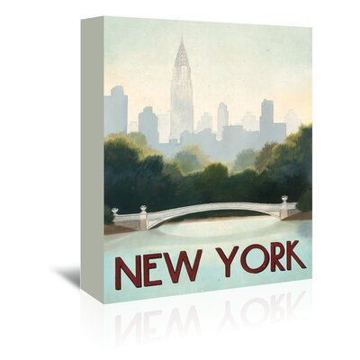 Americanflat 'New York' by Marco Fabiano Vintage Advertisement Wrapped on Canvas