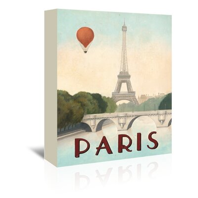 Americanflat 'Paris' by Marco Fabiano Vintage Advertisement Wrapped on Canvas