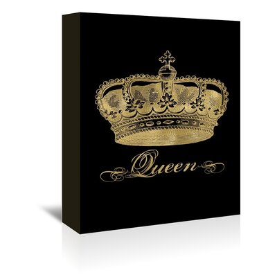 Americanflat 'Crown Queen' by Amy Brinkman Graphic Art Wrapped on Canvas in Black
