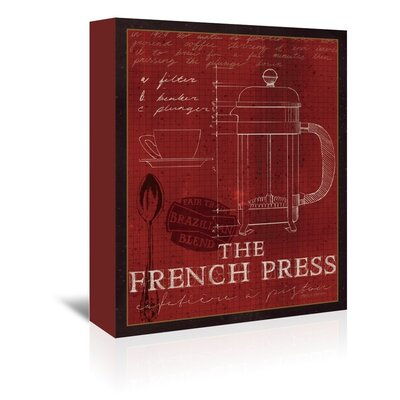 Americanflat 'The French Press' by Marco Fabiano Vintage Advertisementhic Wrapped on Canvas