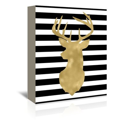 Americanflat 'Deer Head Left FaceStripe' by Amy Brinkman Graphic Art Wrapped on Canvas