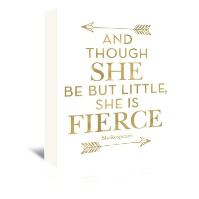 Americanflat 'Fierce Shakespeare Arrows' by Amy Brinkman Typography Wrapped on Canvas