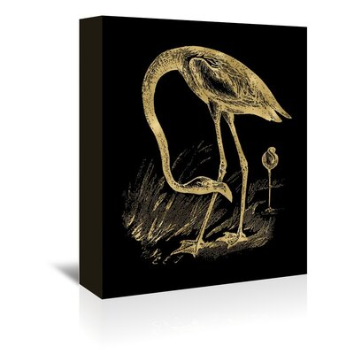Americanflat 'Flamingo 1' by Amy Brinkman Graphic Art Wrapped on Canvas