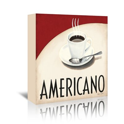 Americanflat Americano' by Marco Fabiano Vintage Advertisement Wrapped on Canvas