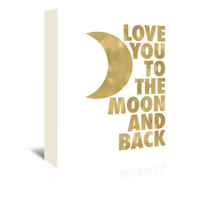 Americanflat 'Love You Moon Back' by Amy Brinkman Graphic Art Wrapped on Canvas