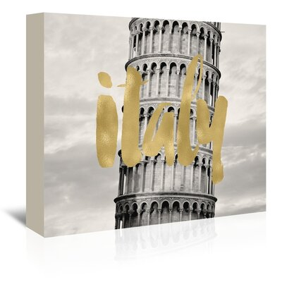 Americanflat 'Italy Pisa' by Amy Brinkman Graphic Art Wrapped on Canvas