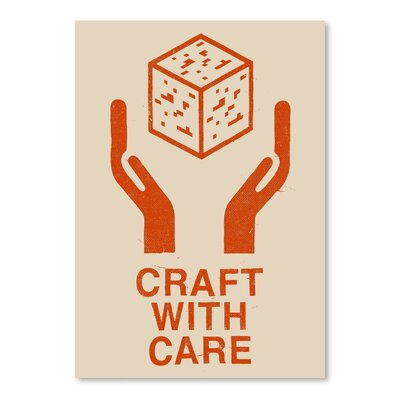 Americanflat 'Craft With Care 1' by Florent Bodar Graphic Art