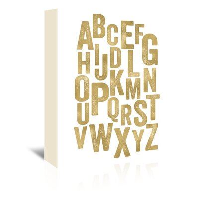 Americanflat 'Alphabet' by Amy Brinkman Typography Wrapped on Canvas