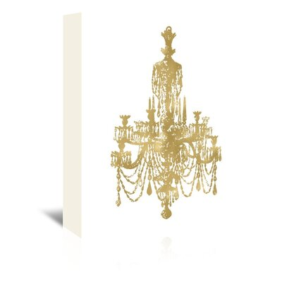 Americanflat 'Chandelier Gold on White' by Amy Brinkman Graphic Art Wrapped on Canvas