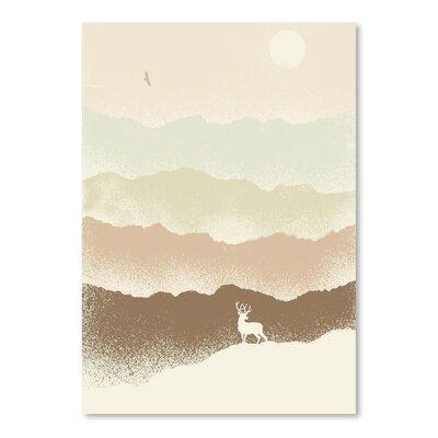 Americanflat 'Deer Mountain' by Florent Bodart Graphic Art