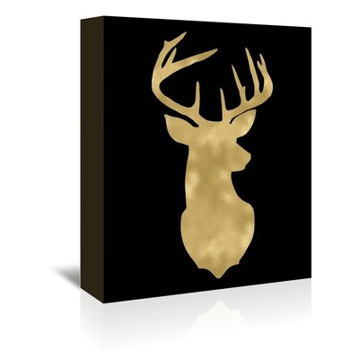 Americanflat 'Deer Head Right Face' by Amy Brinkman Graphic Art Wrapped on Canvas
