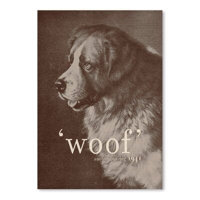 Americanflat 'Famous Quote Dog' by Florent Bodart Graphic Art