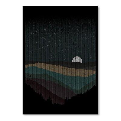 Americanflat 'Moonrise' by Florent Bodart Graphic Art