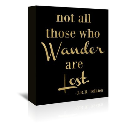 Americanflat 'Wander Lost' by Amy Brinkman Typography Wrapped on Canvas