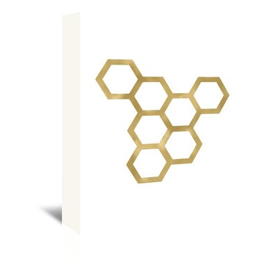 Americanflat 'Honeycomb Modern' by Amy Brinkman Graphic Art Wrapped on Canvas