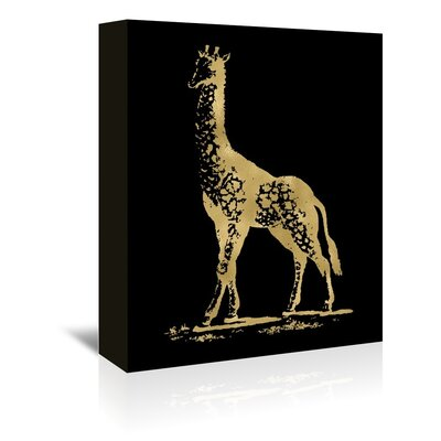 Americanflat 'Giraffe' by Amy Brinkman Graphic Art Wrapped on Canvas in Black