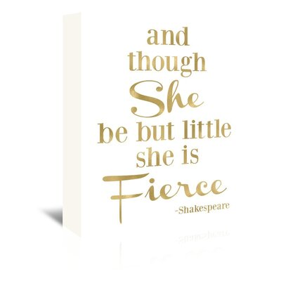 Americanflat 'Fierce Shakespeare' by Amy Brinkman Typography Wrapped on Canvas