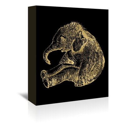 Americanflat 'Elephant Baby' by Amy Brinkman Graphic Art Wrapped on Canvas